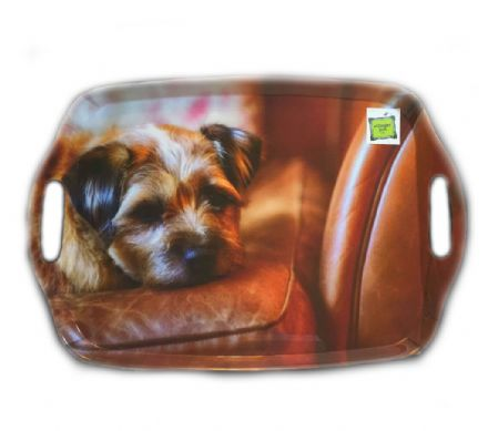 Border Terrier Flirty Gerty Large Tray